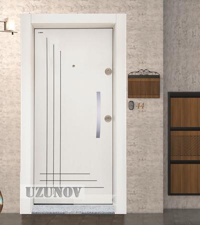 Блиндирана Врата Старлайф SL 204 Бяла перла