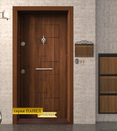 Входна блиндиран врата Т100 Златен дъб