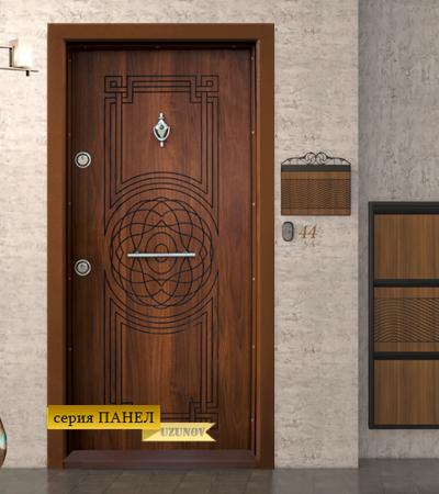 Входна блиндиран врата Т110 Златен дъб