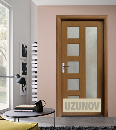 Интериорна врата HDF 048 Златен дъб