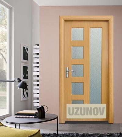 Интериорна врата HDF 048 Светъл дъб
