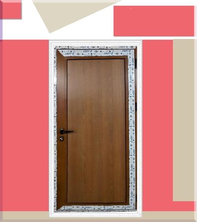 Алуминиева врата плътна златен дъб