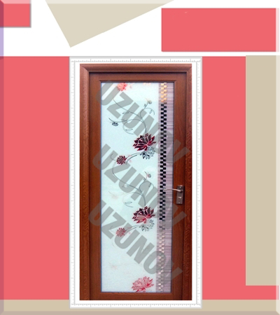 Алуминиева врата с орнаменти череша