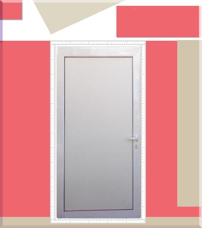 Алуминиева плътна врата за баня