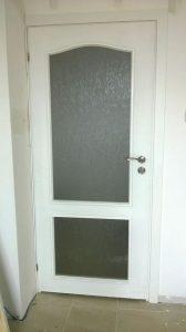 Бяла врата Craft Master със стъкло