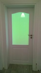 Бяла врата Craft Master Anatolia със стъкло