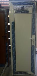 бяла здрава алуминиева врата